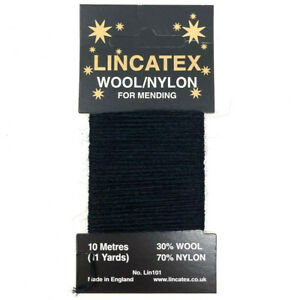 Lincatex Mending Darning Wool (10mtr) -  9 Colours available Free P & P