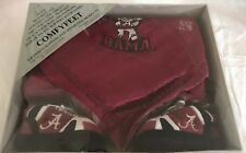 Alabama Crimson Tide Comfy Feet Baby Blanket & Slippers Booties Set 0-9M NEW