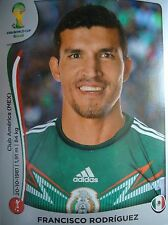 Panini 74 Francisco Rodriguez Mexico FIFA WM 2014 Brasilien