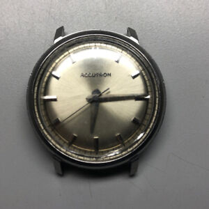 M3 Bulova Accutron 214 Tuning Fork Stainless Steel 35mm Watch