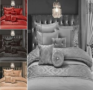 7Pcs Set Designer CASABLANCA EMBROIDERED Lace Polyester Complete Duvet Cover Set