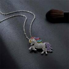 Unicorn Pendant Necklace Chain Flying Horse Girls Jewellery Party Gifts J