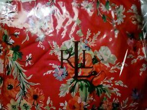 RALPH LAUREN - BELLE HARBOR RED FLORAL QUEEN BED SKIRT  - VINTAGE - NIP