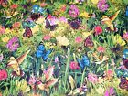 BTY HUMMINGBIRDS & BUTTERFLIES Print 100% Cotton Quilt Craft Fabric by the Yard