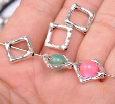 60PCS Tibet silver charm jewelry square bead interval accessories Beads