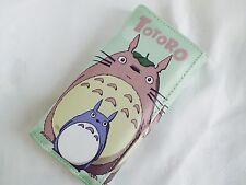 Totoro Billetera Monedero moneda verde para Mujeres Chicas Cremallera titular de la tarjeta de dibujos animados japonés Y4
