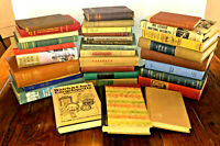 Lot of 10 Vintage Antique Rare Old Decor Hardcover Books - Mixed Color - Random