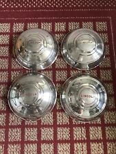 """1946 Lincoln All Models Set of Four 12"""" OEM Hubcaps"""