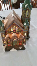 Santa's Workbench Stonebridge Church Victorian Series Lighted Christmas Village
