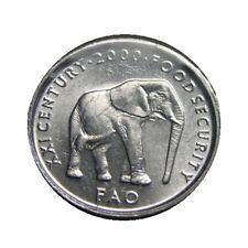 SOMALIA 5 SHILLINGS KM45 2000 MILLENNIUM ELEPHANT FAO UNC ANIMAL WILD LIFE COIN