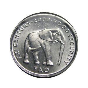 elf Somalia Republic 5 Shilling 2000 FAO Elephant BU