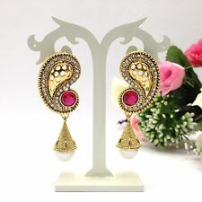 New Indian Asian Bridal Jewellery Bollywood Ethnic Wear Jhumka Earrings