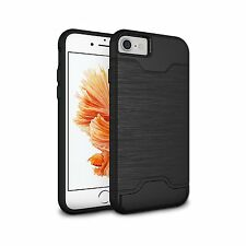 iPhone 7 Case Slim Fit Thin Kickstand Shockproof Protection Black