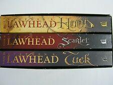 Stephen R Lawhead King Raven Trilogy Tuck Hood Scarlet Lot 3 Boxed Set VG