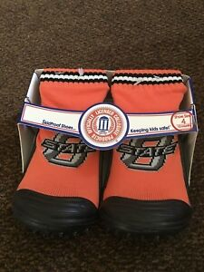 Oklahoma State Shoes Kids Socks Safe Skidproof NWT Size 4, 6, 8 Orange Booties