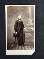 Victorian Carte De Visite CDV: Well Dressed Gent: Ward: Brixton Photographic Ins