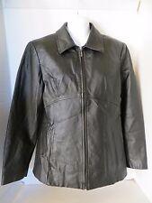 Jacqueline Ferrar Black Leather Jacket Size Medium