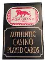4 Packs / Decks of MGM Playing Casino Poker Cards -  Las Vegas. EXCLUSIVE !