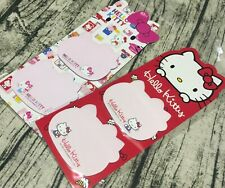 Cute HELLO KITTY Face Sticky Note Memo Pads Message Paper Gift Pink 45th Limited