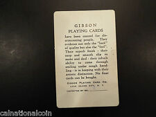 1944 Gibson info playing card