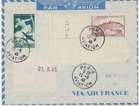 """FRANKREICH 1946 Erstflug """"Paris - Rio de Janeiro"""" Air France selt Nachkriegsflug"""