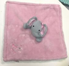 Baby Gear PINK Blanket Gray ELEPHANT Security Lovey HEARTS Pink Ears 15X15