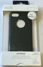 "NEW Moshi Armour Premium Brushed Metallic Case for iPhone 7 (4.7"") - Black"