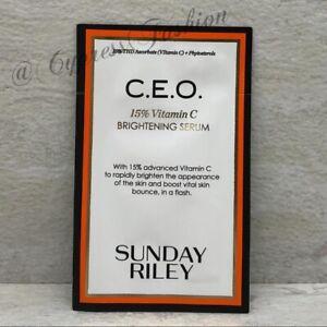 New SUNDAY RILEY C.E.O. 15% Vitamin C Brightening Serum Sample Pack