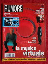 Rivista RUMORE Nr 33/1994 Orbital Suede Jeff Buckley God Machine Presley No cd*