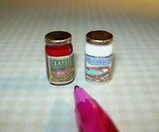 Miniature Pasta Sauce Set (Brand) for DOLLHOUSE, 1/12 Scale Miniatures