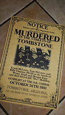The OK Coral GUNFIGHT, Tombstone  WILD WEST POSTERS, Novelty reproductions,