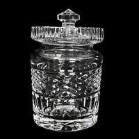 Antique Victorian American Brilliant Cut Crystal Glass Sugar Bowl w/ Lid