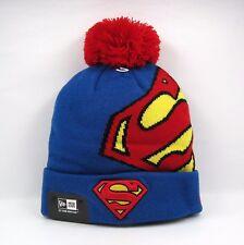 0632a9f1f6d New Era Men s DC Comics Superman Hero Shield Winter Knit Bobble Beanie Hat