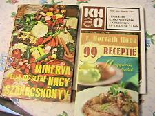 3 SZAKACSKONYV~Nagy Szakacskonyv~99 Magyaros Etelek~Fuszer in Hungarian~books