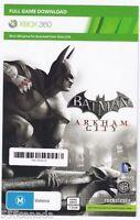 Batman Arkham City - Full Game Download Code Xbox 360 Card - REGION FREE