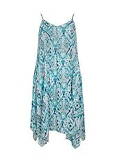 Evans Blue Printed Sun Summer Hanky Hem Dress - BNWT - Plus Size 22