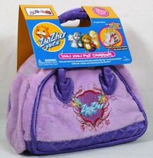 NEW Zhu Zhu Go Go Pet Guinea Pig Hamster Toy DELUXE CARRIER Soft Bag Purple