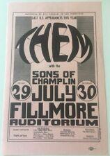 1966 Bill Graham Bg 20 Fillmore Handbill, Them (Van Morrison), Sons of Champlin