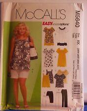Plus Size Womens Pattern Dress Top Easy Sz KK 26W 28W 30W 32W McCalls 5640 NEW