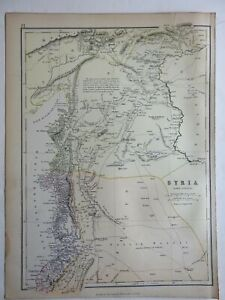 Syria north part Euphrates Damascus Aleppo Middle East 1883 map