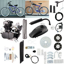 UPGRADED 80cc 2-Stroke Motor Engine Kit Gas for Motorized Bicycle Bike Black