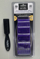 Andis Master Dual Magnet 5 Comb Set - Small #01410 + Brush Small FREE