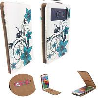 Haier G8 - Schutz Hülle Handy - Flip M Grüne Blume
