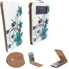 Universal for 5.7Inch / 6Inch - Schutz Hülle Handy - Flip L Grüne Blume