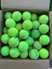 60 Used Tennis Balls For Walkers, Dogs, Little League Batting Practice