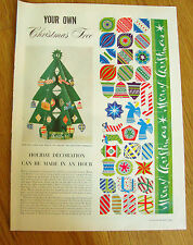 1950 Article Ad Christmas Tree Cut-Out Holiday Decoration