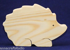 HEDGEHOG- wooden shape Other animals available-Real pine wood-Hand made- (N)