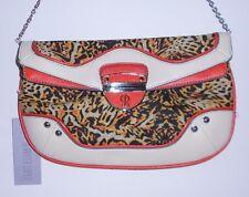 Orange Beige Cheetah Jennifer Lopez Purse Handbag Shoulderbag Clutch 40% Off NWT