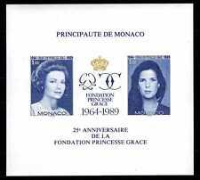 1989 MONACO BLOC N°48a NON DENT. S.A.S. GRACE CAROLINE
