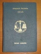 ALMANACH HACHETTE 1935